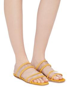 Fabio Rusconi Suede trim PVC slide sandals