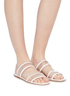 Fabio Rusconi Patent leather trim PVC slide sandals