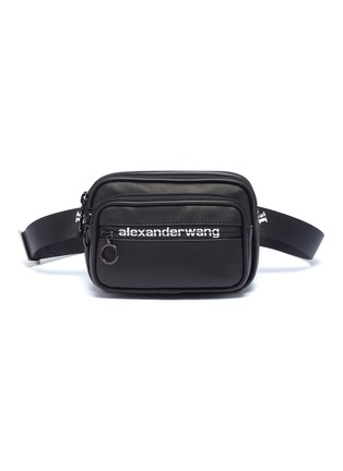 Main View - Click To Enlarge - ALEXANDERWANG - 'Attica Sport' logo print leather bum bag
