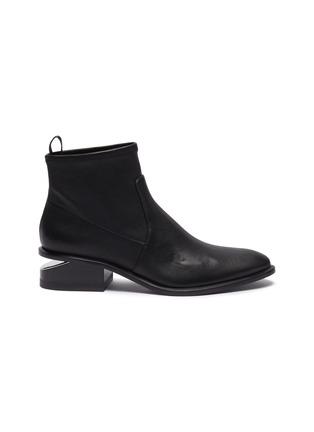 Main View - Click To Enlarge - ALEXANDER WANG - 'Kori' cutout heel leather boots