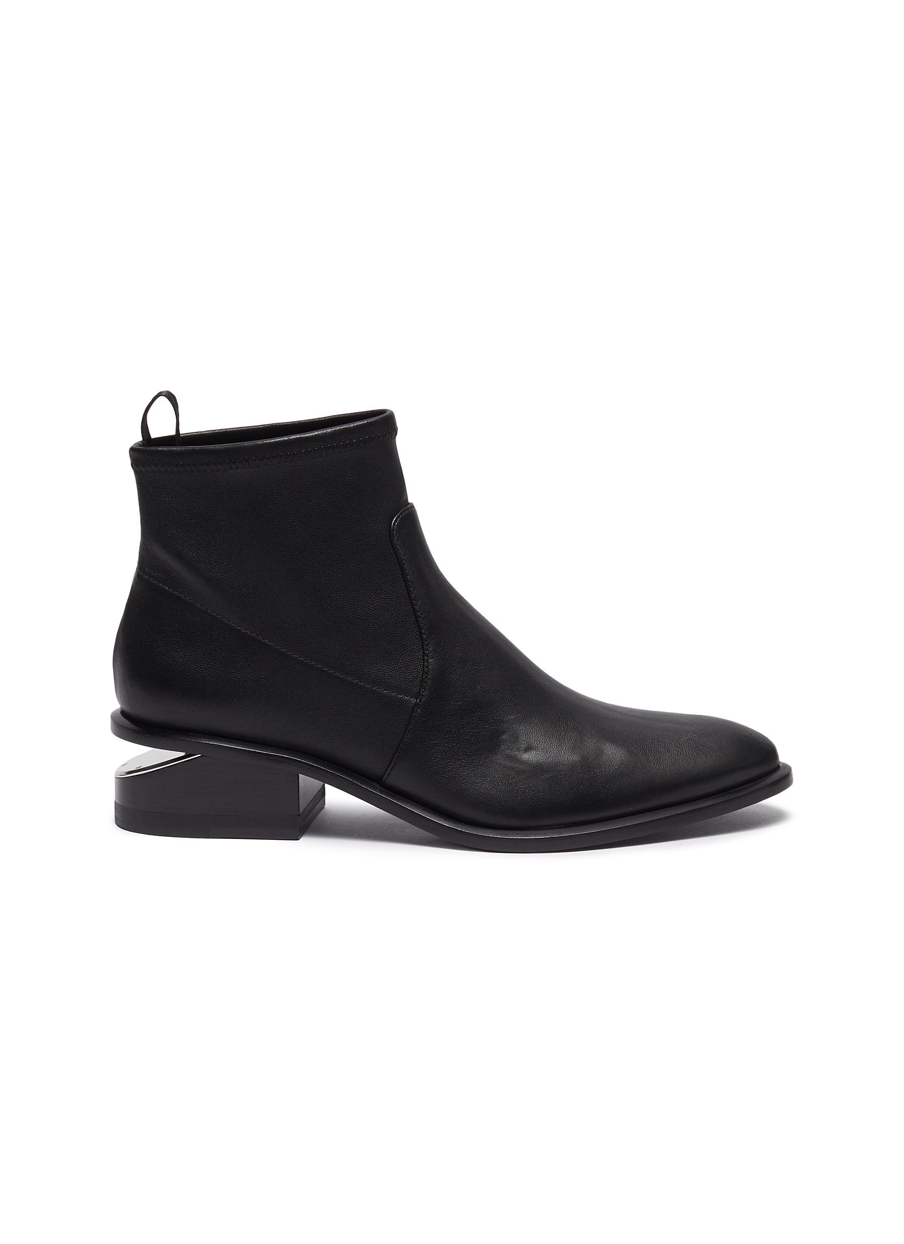Kori cutout heel leather boots by Alexanderwang