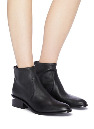 Figure View - Click To Enlarge - ALEXANDER WANG - 'Kori' cutout heel leather boots