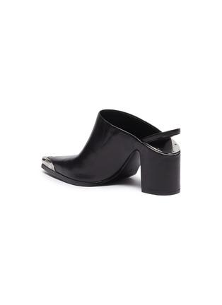 - ALEXANDERWANG - 'Su' cutout heel metal toecap leather mules