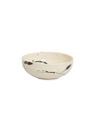 Main View - Click To Enlarge - CHRIS EARL - Serving bowl –Black Splatter
