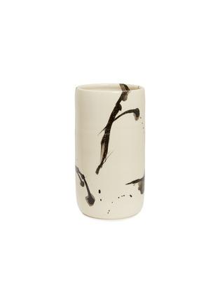 Main View - Click To Enlarge - Chris Earl - Cylinder tall vase – Black Splatter
