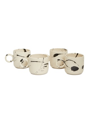 Main View - Click To Enlarge - CHRIS EARL - Circle mug set – Black Splatter