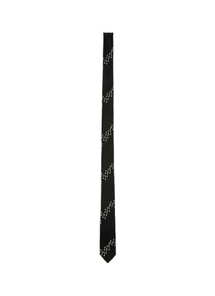 Main View - Click To Enlarge - SAINT LAURENT - Music note embroidery silk skinny tie