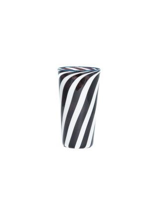 Main View - Click To Enlarge - Laurence Brabant & Alain Villechange - Spiral motif tall tumbler –White/Grey