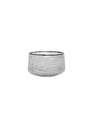 Main View - Click To Enlarge - Laurence Brabant & Alain Villechange - Swirl motif medium bowl –Clear/Black