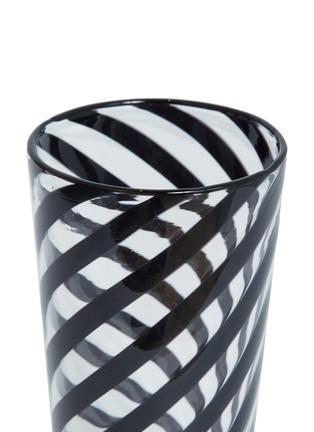 Detail View - Click To Enlarge - LAURENCE BRABANT & ALAIN VILLECHANGE - Spiral motif tumbler –Clear/Black