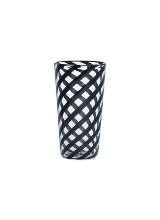 Main View - Click To Enlarge - LAURENCE BRABANT & ALAIN VILLECHANGE - Spiral motif tumbler –Clear/Black