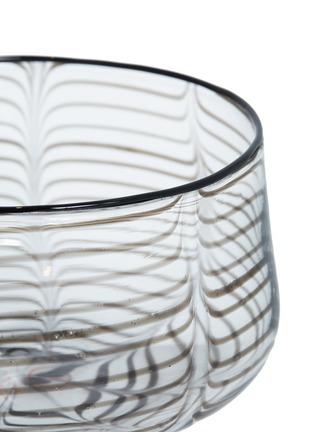 Detail View - Click To Enlarge - LAURENCE BRABANT & ALAIN VILLECHANGE - Swirl motif large bowl –Clear/Black