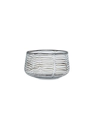 Main View - Click To Enlarge - LAURENCE BRABANT & ALAIN VILLECHANGE - Swirl motif large bowl –Clear/Black