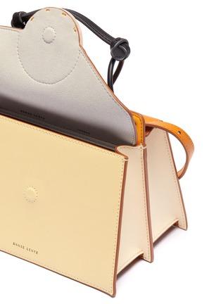 Detail View - Click To Enlarge - DANSE LENTE - 'Phoebe Bis' spiral handle asymmetric flap crossbody bag