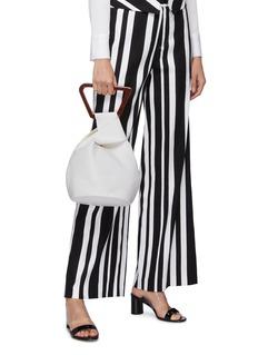 Cult Gaia 'Astraea' leather geometric top handle bag