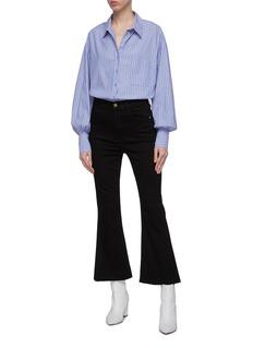 Frame Denim 'Le Crop Flare' raw cuff jeans