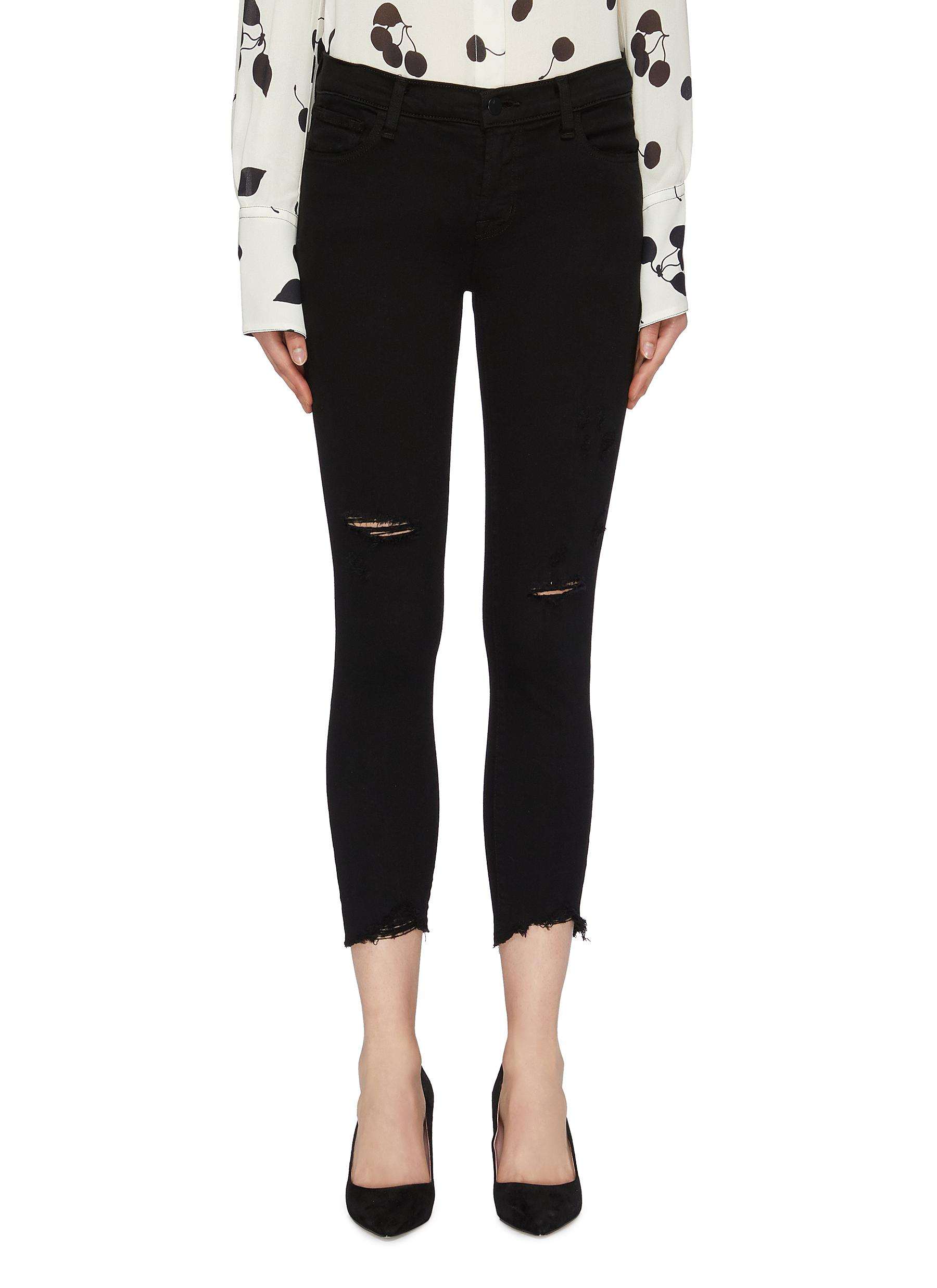 Buy J Brand Jeans '835' raw cuff ripped skinny jeans