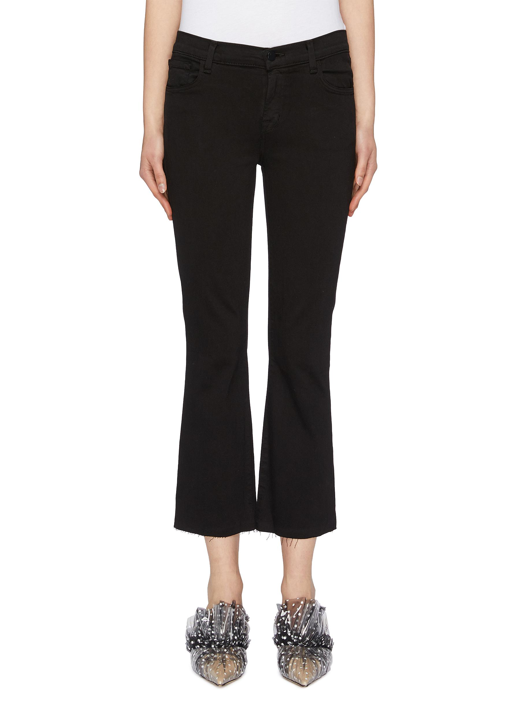 shop J Brand 'Selena' raw cuff cropped bootcut jeans online