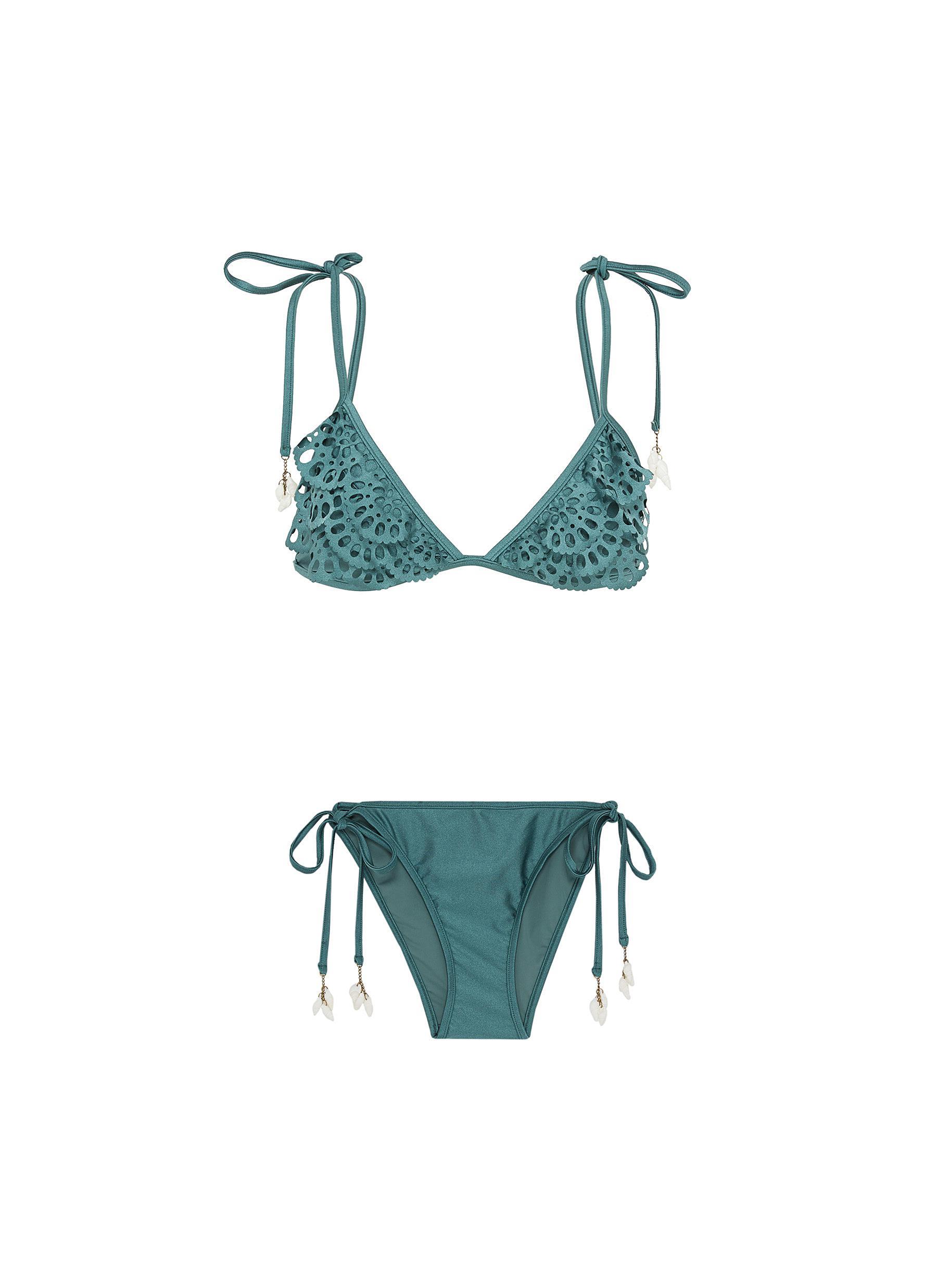 Veneto Scallop Frill lasercut tiered bikini set by Zimmermann