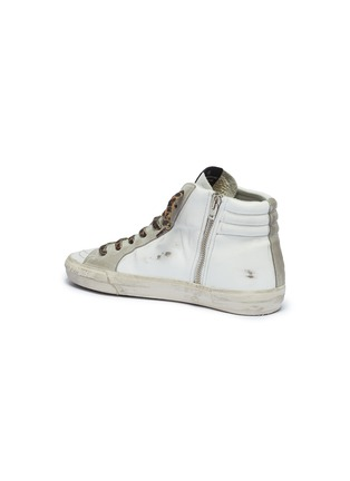 - GOLDEN GOOSE - Leopard print lace-up hair trim mid top sneakers