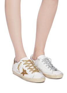 Golden Goose 'Superstar' metallic star patch leather sneakers