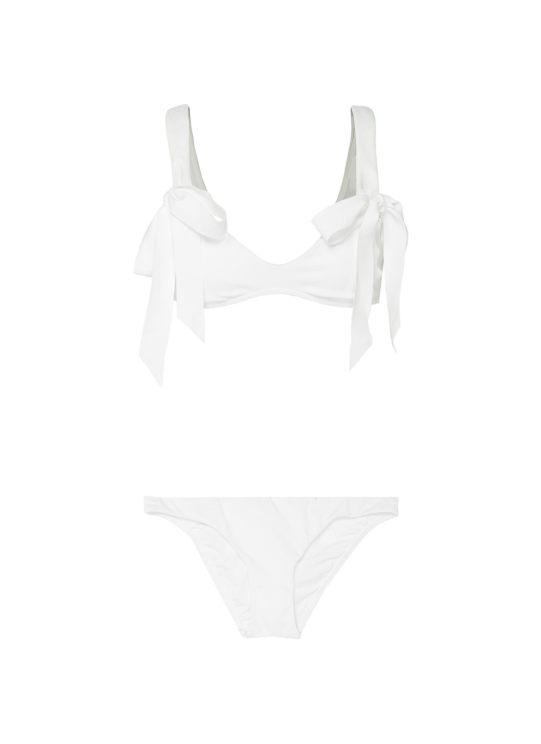 Goldie bow strap bikini top by Zimmermann