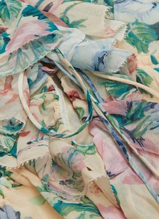 - ZIMMERMANN - 'Verity' ruffle drawstring floral print chiffon rompers