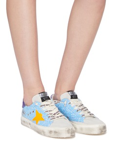 Golden Goose 'May' glitter coated patchwork sneakers