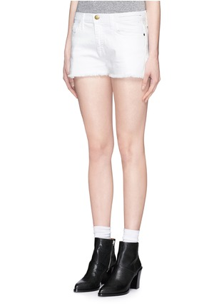 Front View - Click To Enlarge - Current/Elliott - 'The Boyfriend' cutoff denim shorts