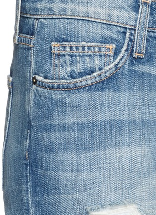 Detail View - Click To Enlarge - Current/Elliott - 'The Fling' distressed cropped jeans