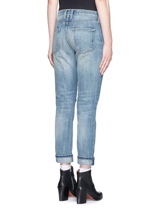 Back View - Click To Enlarge - Current/Elliott - 'The Fling' distressed cropped jeans