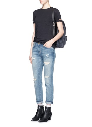Figure View - Click To Enlarge - Current/Elliott - 'The Fling' distressed cropped jeans