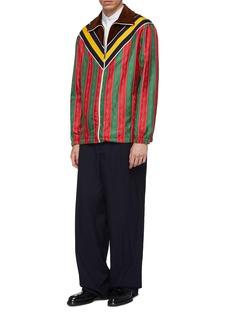 Gucci Chevron stripe colourblock horsebit chain jacket