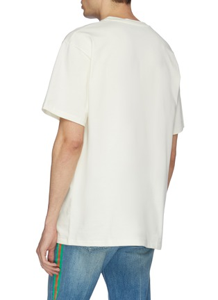 Back View - Click To Enlarge - Gucci - Logo blade print oversized T-shirt