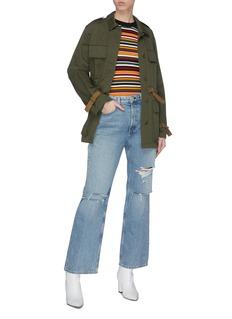 rag & bone/JEAN 'Kelly' ripped wide leg jeans