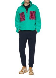 NikeLab 'ACG' contrast graphic print zip pocket fleece jacket