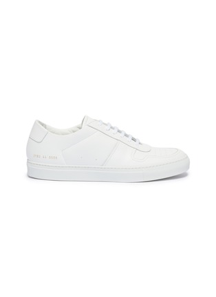 Main View - Click To Enlarge - COMMON PROJECTS - 'Bball Low' leather sneakers