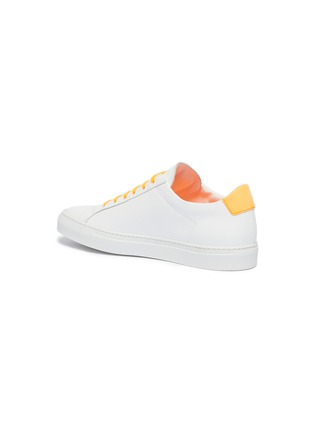 - Common Projects - 'Retro Low Fluro' neon collar leather sneakers