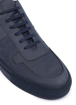 Detail View - Click To Enlarge - COMMON PROJECTS - 'Bball Low' nubuck leather sneakers