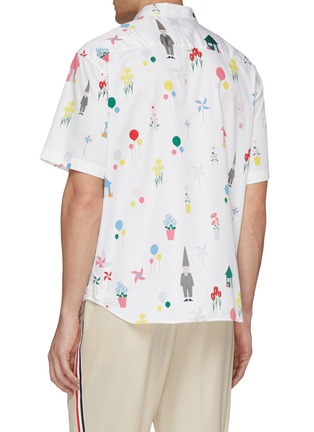 Back View - Click To Enlarge - THOM BROWNE - 'Gnome' mix motif print short sleeve shirt