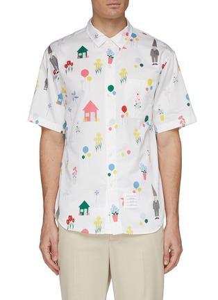 Main View - Click To Enlarge - Thom Browne - 'Gnome' mix motif print short sleeve shirt