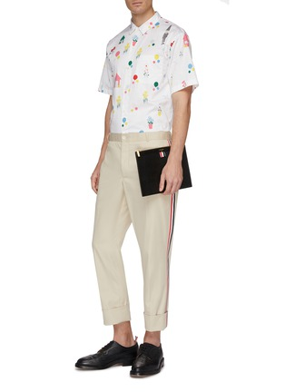Figure View - Click To Enlarge - THOM BROWNE - 'Gnome' mix motif print short sleeve shirt