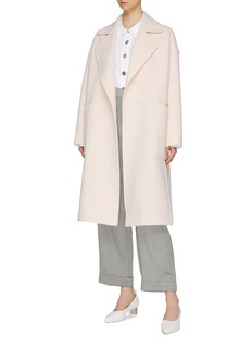 COMME MOI Notched lapel side split wool coat