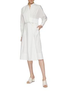 COMME MOI Asymmetric panelled shirt dress
