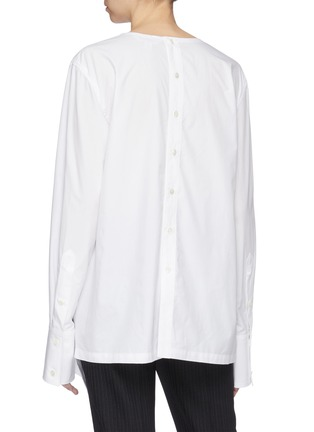 Back View - Click To Enlarge - THE KEIJI - Gathered poplin blouse