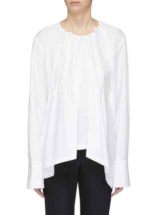 Main View - Click To Enlarge - THE KEIJI - Gathered poplin blouse