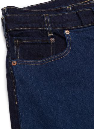 - Feng Chen Wang - x Levi's® layered waist colourblock jeans