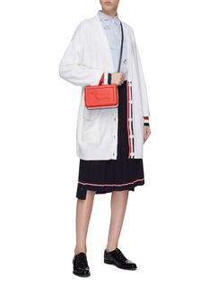 Thom Browne Stripe cuff oversized wool cardigan