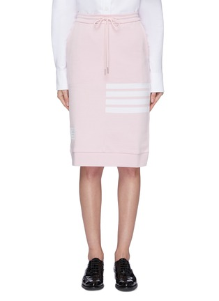 Main View - Click To Enlarge - THOM BROWNE - Stripe drawstring French terry sack skirt