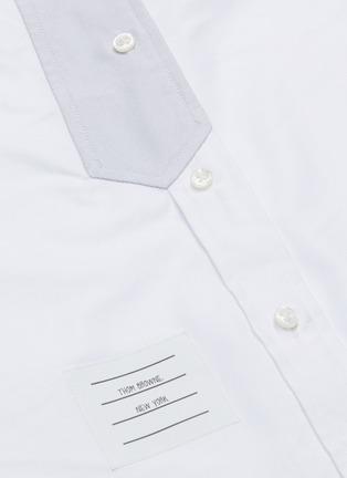 - THOM BROWNE - Trompe l'œil tie Oxford shirt